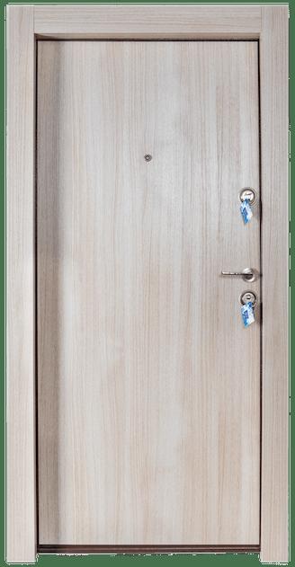 Входна врата за апартамент FeRi - Модел F50 цвят Светъл дъб - поглед отвън